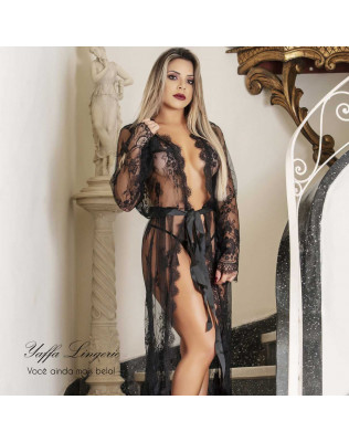 Robe Luxo Semi Transparente - Yaffa