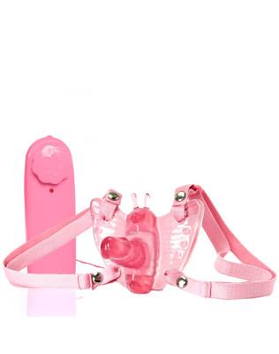 Borboleta Mágica Butterfly  - Estimulador  Feminino Com Pênis Rosa