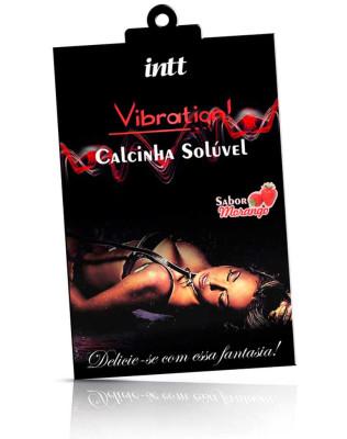 Calcinha Solúvel Vibration Morango - Intt