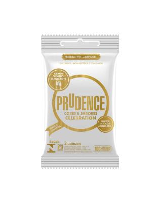 Preservativo Prudence - Celebration - Sabor Vinho Espumante