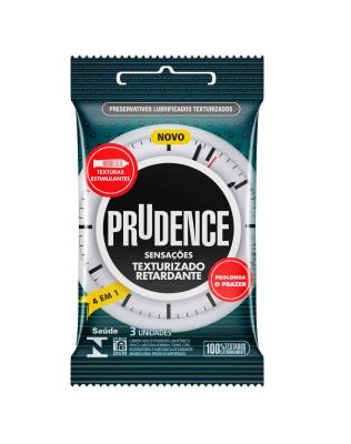 Preservativo Prudence - Sensações - Texturizado Retardante