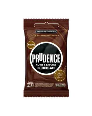 Preservativo Prudence - Cores e Sabores - Sabor Chocolate 3un