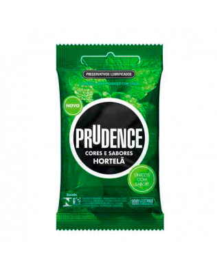 Preservativo Prudence - Cores e Sabores - Sabor Hortelã 3un