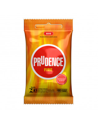 Preservativo Prudence - Fire - Sensação Quente Lubrificado