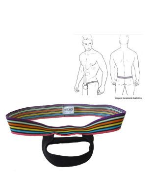 Cueca Cockring Anel Escrotal e Suporte Para o Pênis Elástico Cintura Colorido
