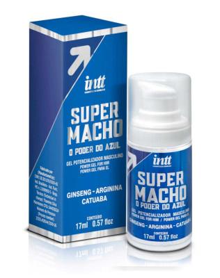 Super Macho Gel Potencializador Masculino - O Poder do Azul - INTT